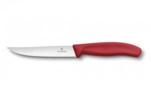 """Nicht nur scharf, sondern auch chic: Steakmesser in Trendfarben wie beispielsweise das """"Swiss Classic"""" sorgen für optische Abwechslung auf dem Tisch. Foto: djd/Victorinox"""