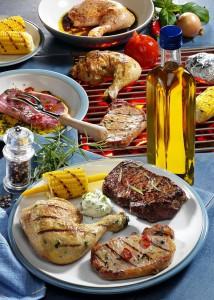 Dreierlei Fleisch vom Grill